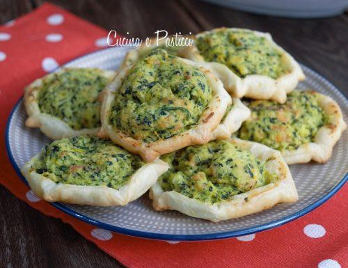 Pardule salate con ricotta spinaci e salmone
