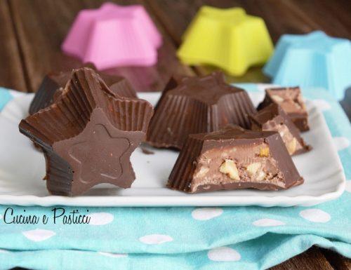 Stelle di torrone al cioccolato