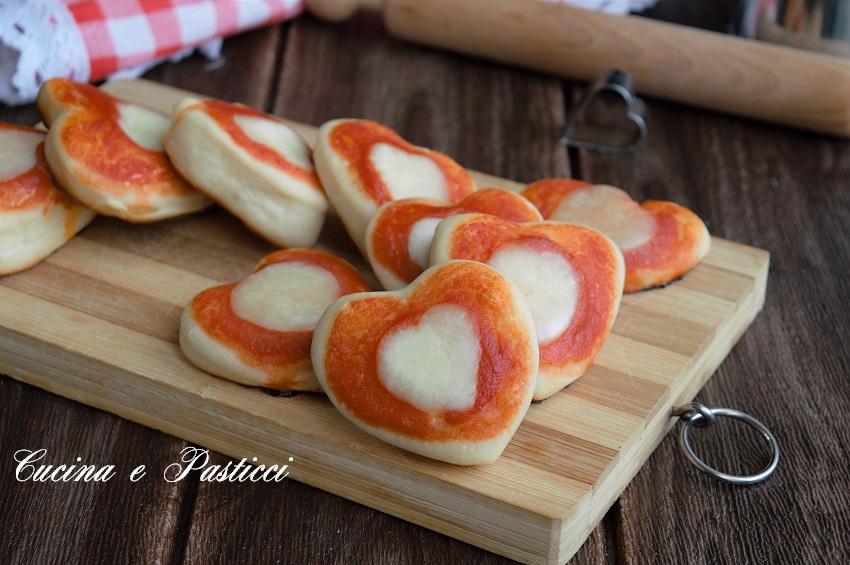 Pizzette Morbide a Cuore