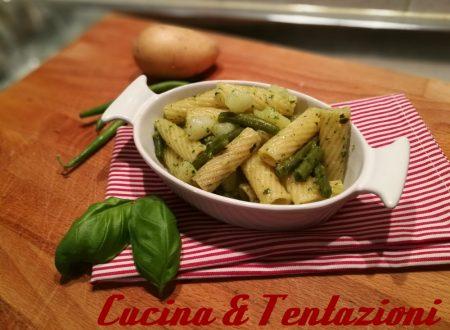 Pasta pesto fagiolini e patate – fredda o calda sempre perfetta