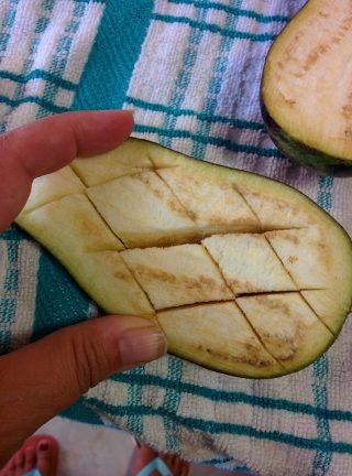 Tagli nella melanzana