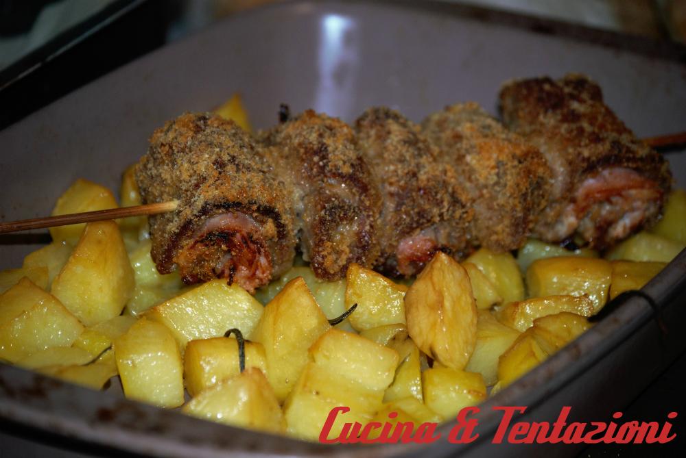 involtini di vitello al forno con patate