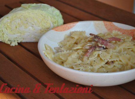 Pasta verza patate e Speck