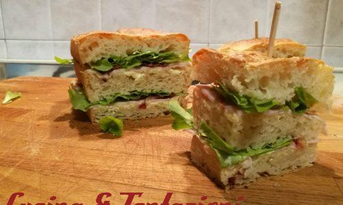 Club Sandwich a modo mio (focaccia Tramezzino)