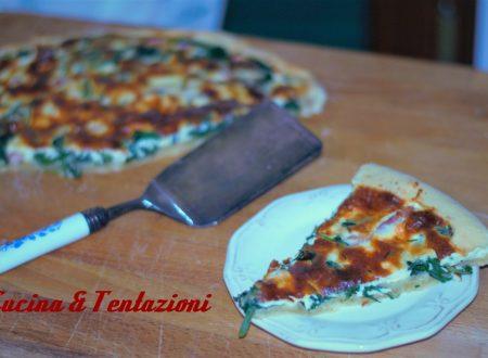 Torta salata con spinaci e pancetta ( pasta al vino)