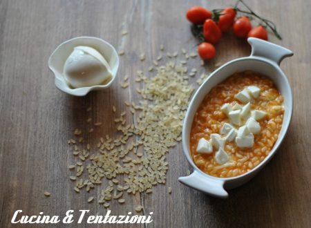 Risotto con pomodoro e mozzarella (bimby o pentola)