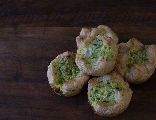 Mini tortine zucchine e porri