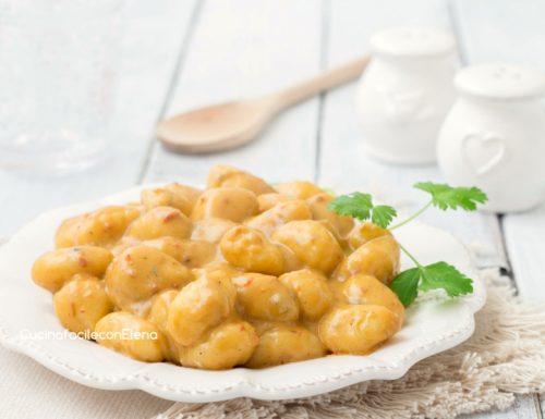 Gnocchi con gorgonzola e nduja