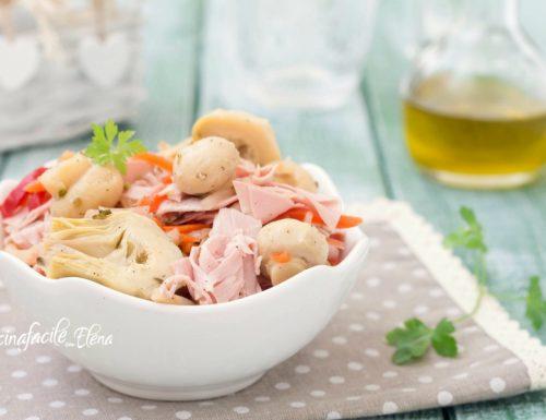 Insalata capricciosa senza maionese