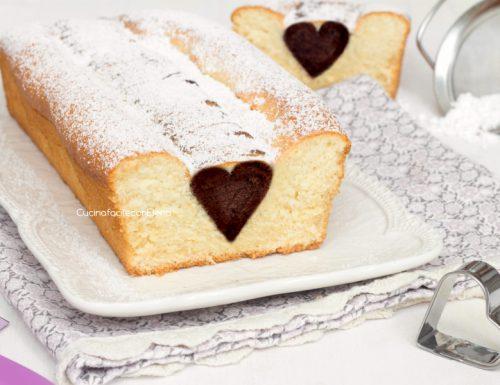 Plumcake con cuore di cioccolato