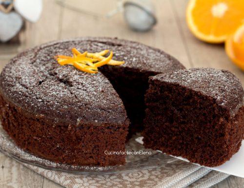Torta cioccolato e arancia senza burro e senza olio