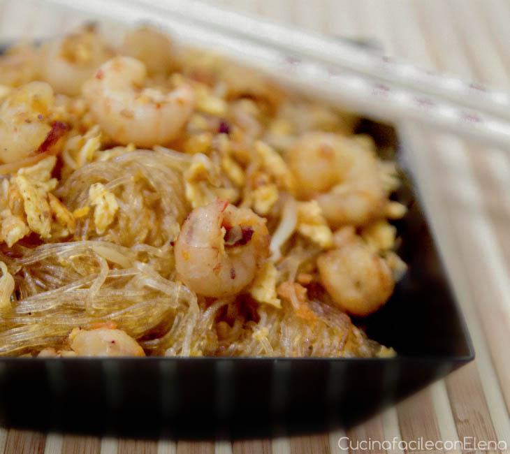 Spaghetti di soia con gamberetti ricette facile cinese for Menu cinese ricette