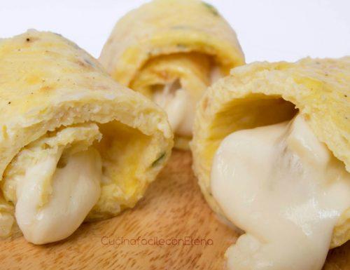 Rotolo di frittata di patate filante