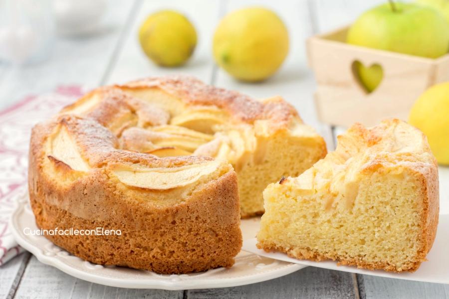 Ricetta torta di mele 24 cm