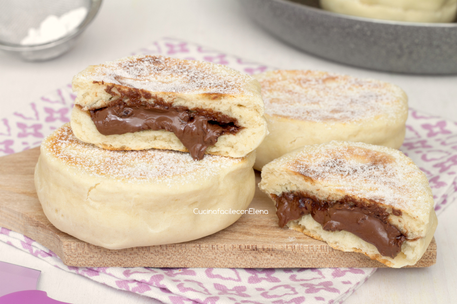 focaccine alla Nutella in padella