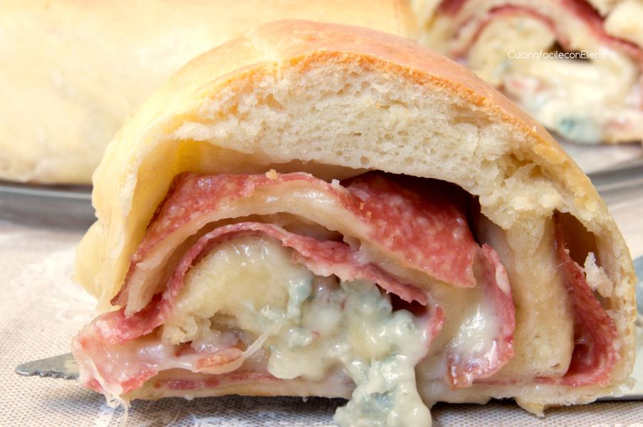 Pan brioche Salame e Gorgonzola