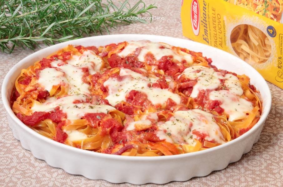 Nidi di tagliatelle al forno ricetta golosa for Barilla ricette