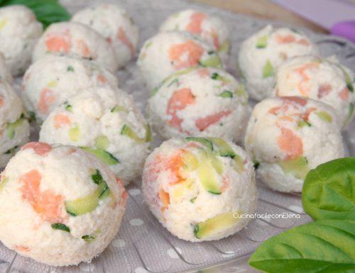 Palline Fredde di Pancarrè con Zucchine e Salmone