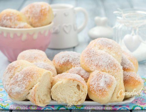 Treccine con lo zucchero sofficissime