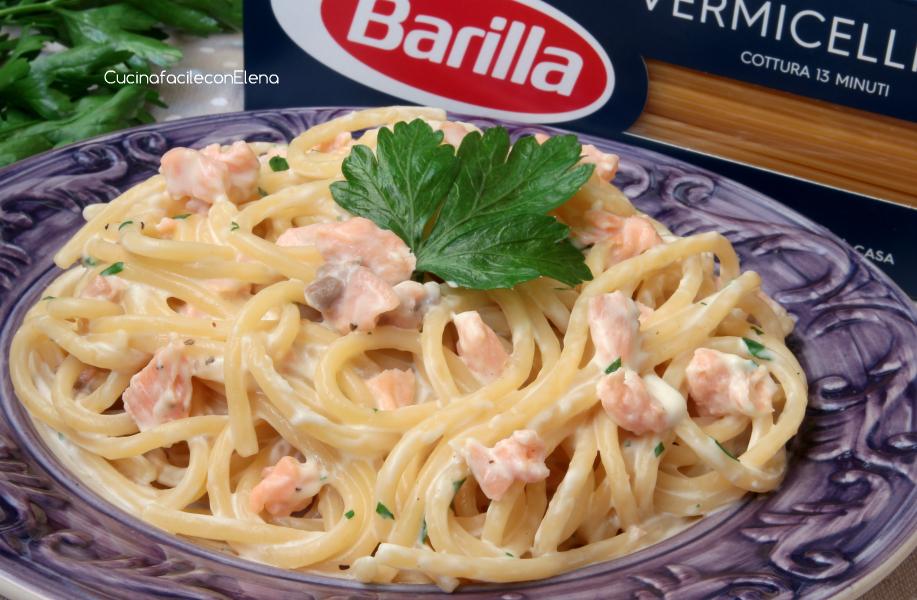 Pasta al salmone cremosa ricetta veloce e golosa for Barilla ricette