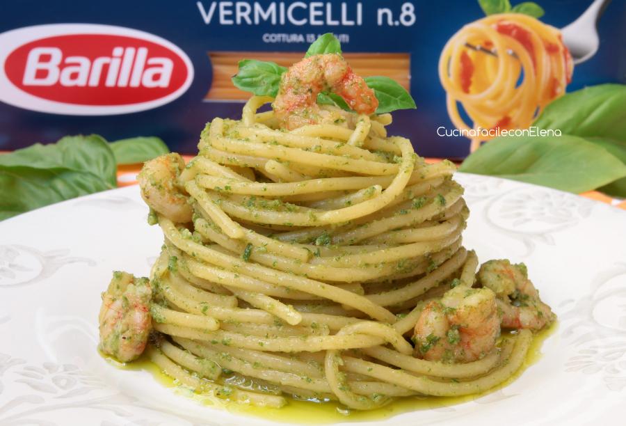pasta con pesto e gamberetti barilla