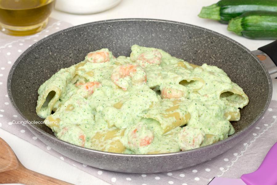 Ricetta x pasta gamberi e zucchine