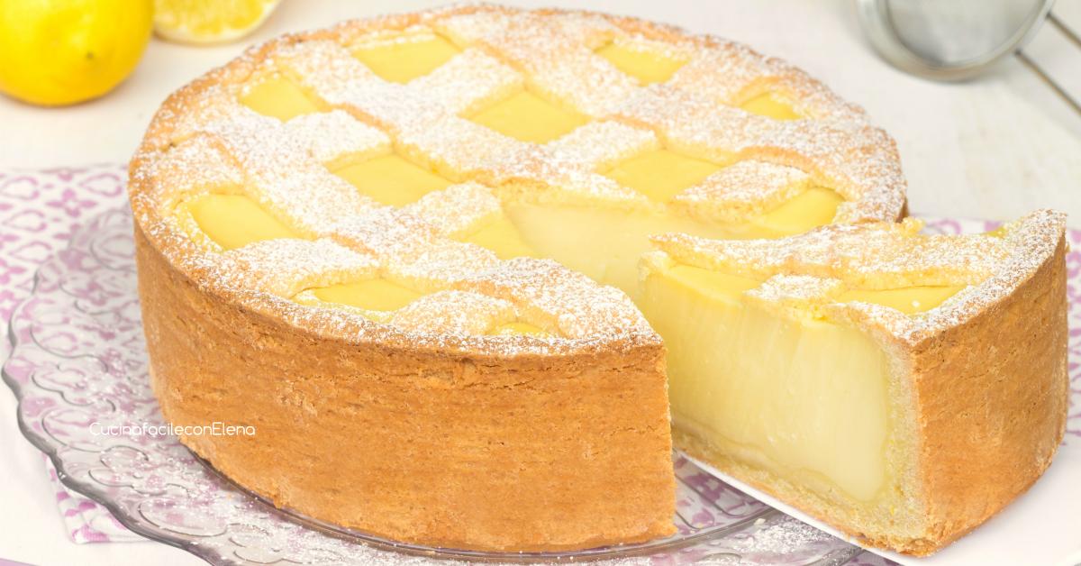 Crostata con crema al limone - Golosa e profumata