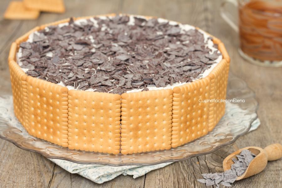 Torta Fredda Di Biscotti Mascarpone E Nutella Dolce Cremoso