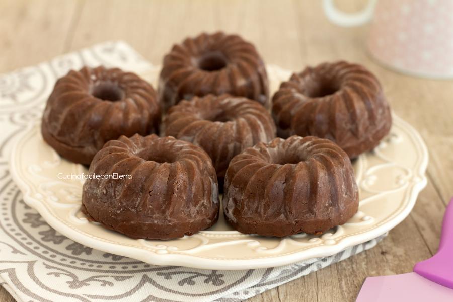 ciambelline al cioccolato senza cottura intere