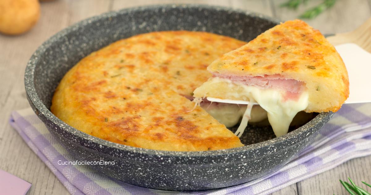Torta di patate in padella senza uova velocissima - Cucina giallo zafferano ...