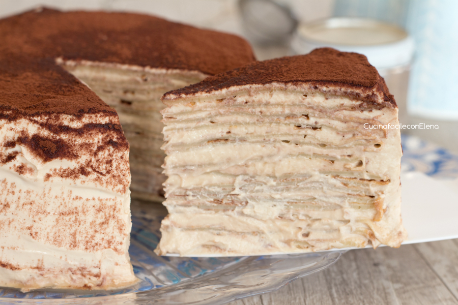 Ricetta torta crepes tiramisu