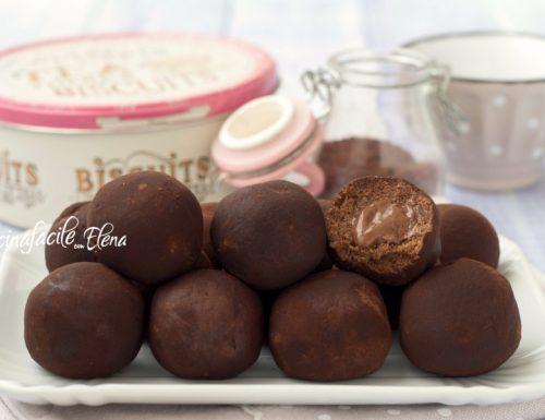Tartufini cookies alla Nutella