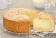 Crostata con crema alla panna