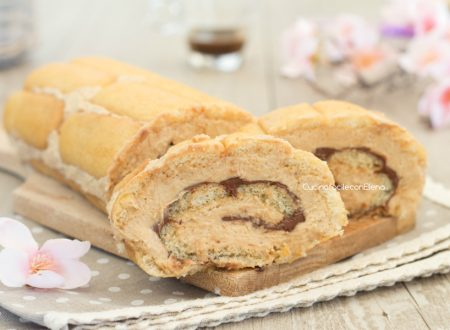 Rotolo di Pavesini al tiramisù e Nutella
