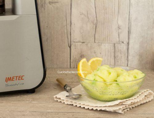 Sorbetto alle mele limone e zenzero