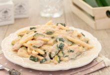 Pasta crema di speck e zucchine