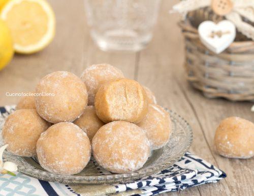 Tartufini al limone senza burro e senza cottura