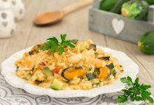 Risotto ai frutti di mare e zucchine