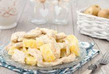 Insalata fredda pollo e patate cremosa