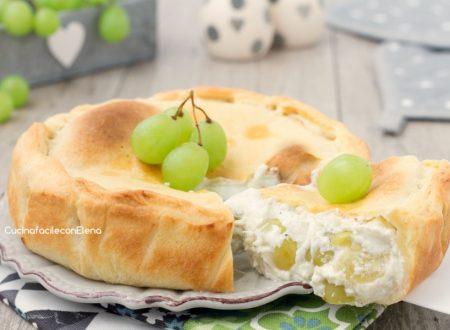 Cheese pie con uva
