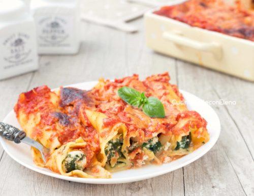 Cannelloni ricotta e spinaci senza besciamella