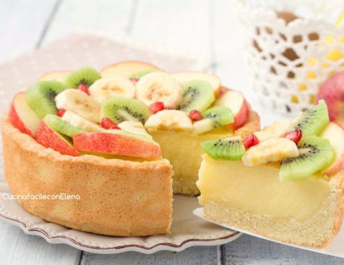 Crostata alla frutta con crema alla panna