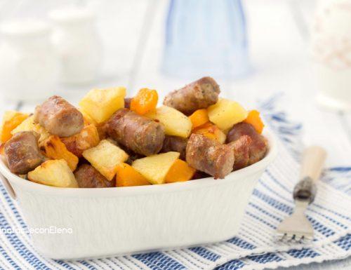Salsiccia con patate e zucca