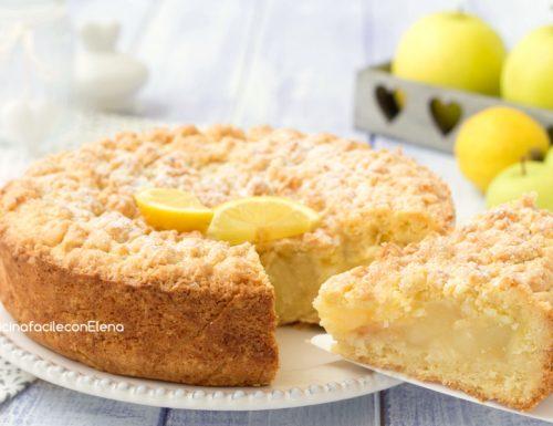 Crostata con crema al limone e mele