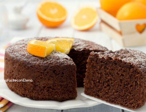 Torta arancia e cioccolato senza bilancia