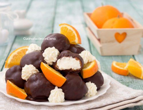 Profiteroles arancia e cioccolato