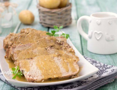 Arrosto con crema di patate