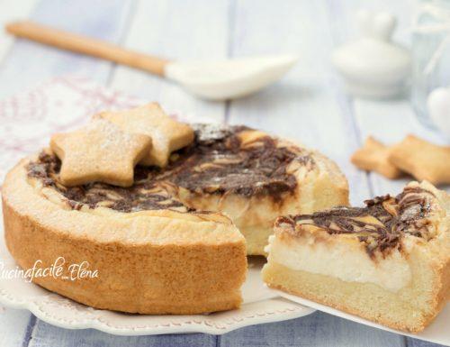 Crostata variegata ricotta e Nutella