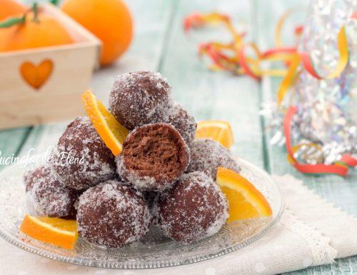 Castagnole cioccolato e arancia