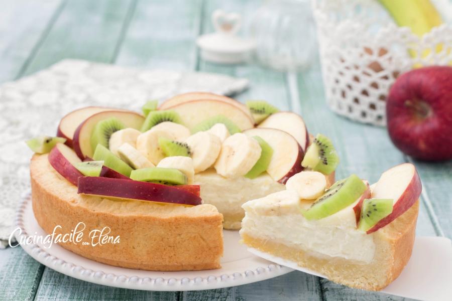 crostata crema di ricotta e frutta